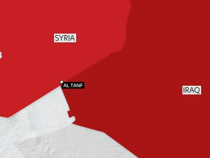 US and British special forces are based near al Tanf in Syria.