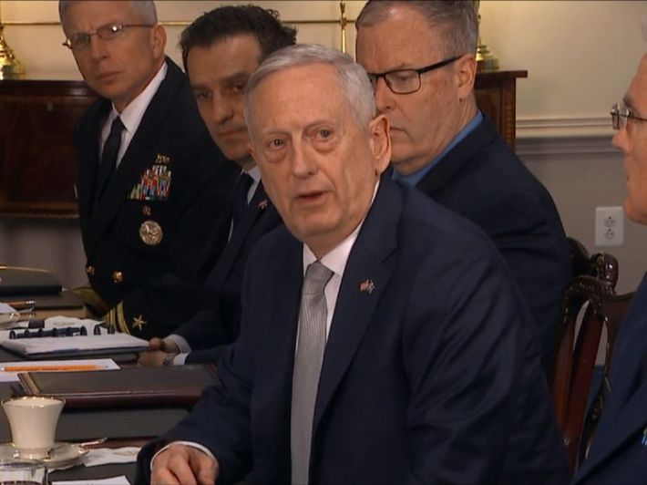 US defence secretary General James Mattis