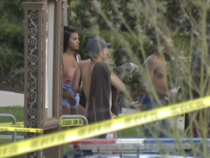 Seven people were shot after a gunman opened fire. Pic: KFMB