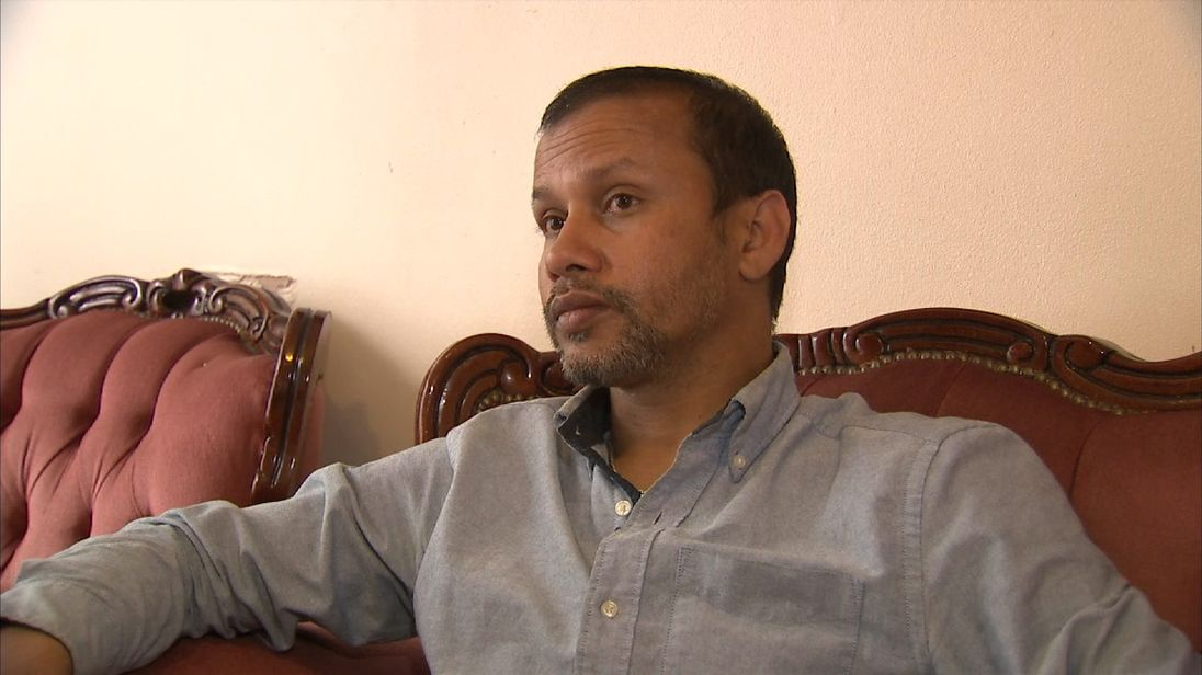 Delivery driver Jabed Hussain describes  the acid attack that happened as he waited at traffic lights in Hackney, east London.