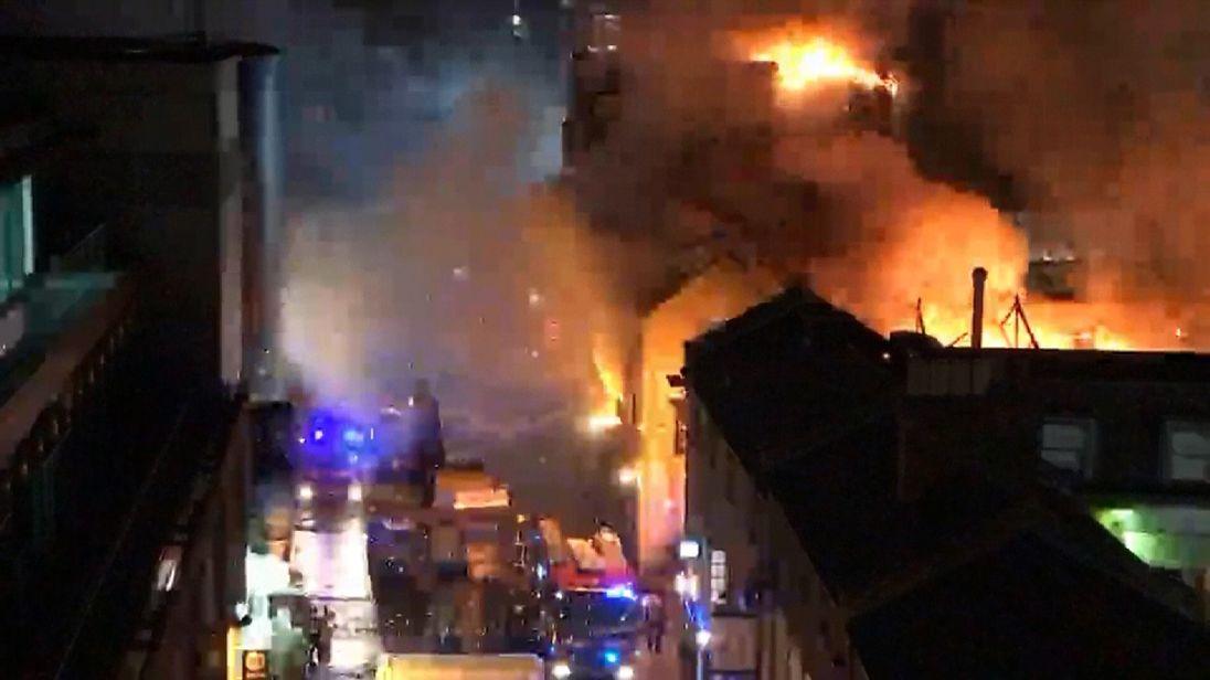 A fire in Camden