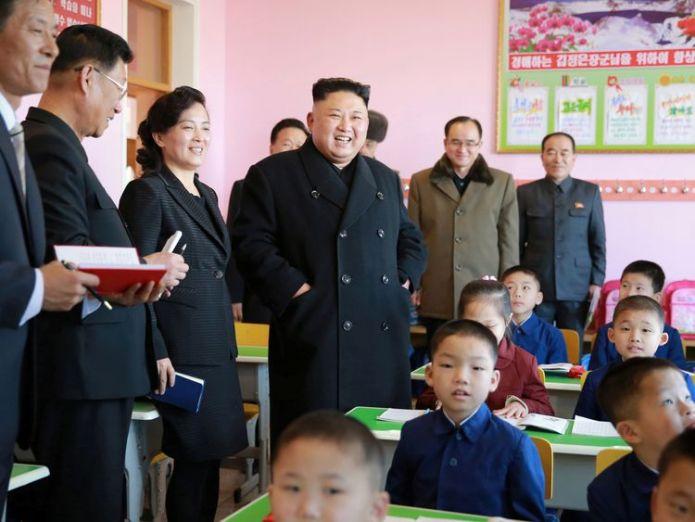 North Korean leader Kim Jong Un visits a school in Pyongyang. File pic We follow Kim Jong Un because we're scared We follow Kim Jong Un because we're scared b59bd937975c34f98fc1ce6930b5abd376ddc0aa7bd5f70d944a51f3018fede1 4005358