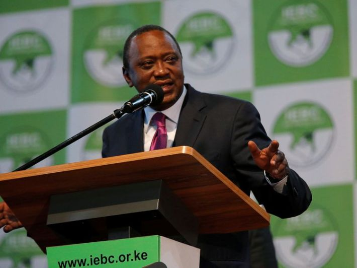 DATE IMPORTED:11 August, 2017Incumbent President Uhuru Kenyatta speaks after he was announced winner of the presidential election at the IEBC National Tallying centre at the Bomas of Kenya, in Nairobi, Kenya August 11, 2017. REUTERS/Thomas Mukoya