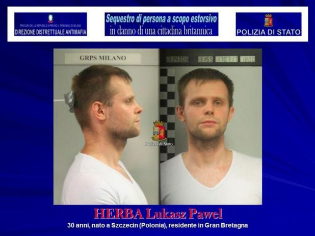 Lukasz Pawel Herba has been charged with kidnapping for extortion purposes