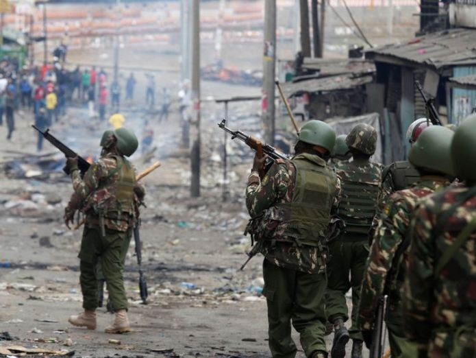 Riot police arrive to disperse the protesters in Mathare Two shot dead in Kenya election protests Two shot dead in Kenya election protests 70513e8bfba0fb3be51f49682838382f48bf3c6b5d7153d58cea851af8be5e19 4071663