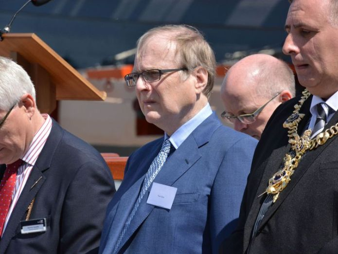 Microsoft co-founder Paul Allen attends the unveiling of the bell from HMS Hood at Portsmouth Historic Dockyard, to mark the 75th anniversary of the Royal Navy's largest loss of life from a single vessel. Navy warship USS Indianapolis found 72 years after sinking Navy warship USS Indianapolis found 72 years after sinking 96425d348d6938e7b670f962f516d9089b1e39f2ccf6bf5261b38f7dd23539f8 4078248
