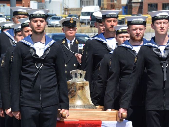 May 2016 The bell from HMS Hood is carried by a Royal Navy guard at Portsmouth Historic Dockyard after it was unveiled by the Princess Royal to mark the 75th anniversary of the Royal Navy's largest loss of life from a single vessel. Navy warship USS Indianapolis found 72 years after sinking Navy warship USS Indianapolis found 72 years after sinking bf1a4cc0c44157235ce934b5df63e4b01442afe39e7f7455329f669cb8c9382d 4078247