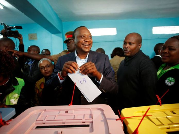 President Uhuru Kenyatta casts his vote in the election Kenyan opposition leader Odinga vows: 'We're not done yet' Kenyan opposition leader Odinga vows: 'We're not done yet' c431d26438016b2b55edd51787335946a157fd8dc2f406e508aa0c6a111a7fcd 4068645