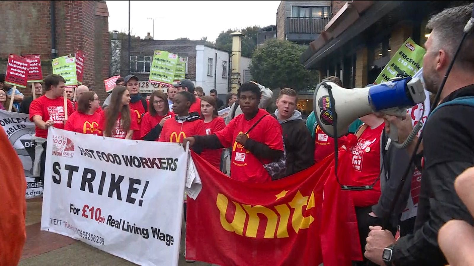McDonald's staff in the UK go on strike for first time ...