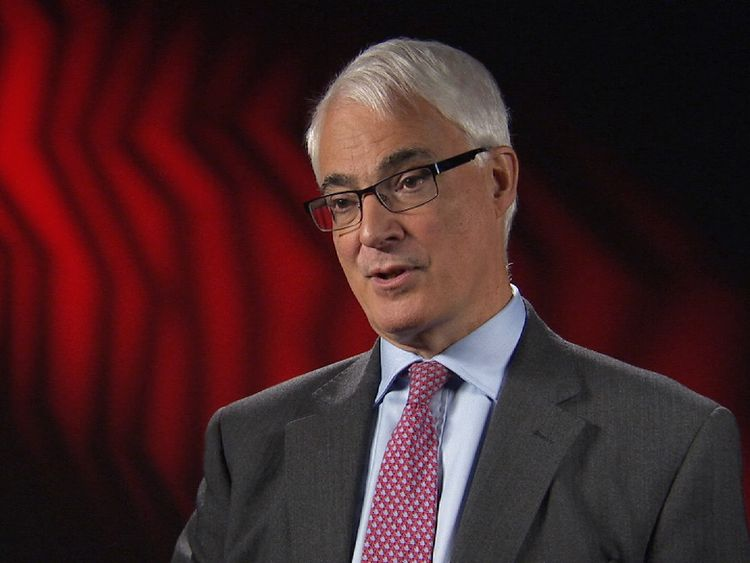 Former chancellor, Alistair Darling