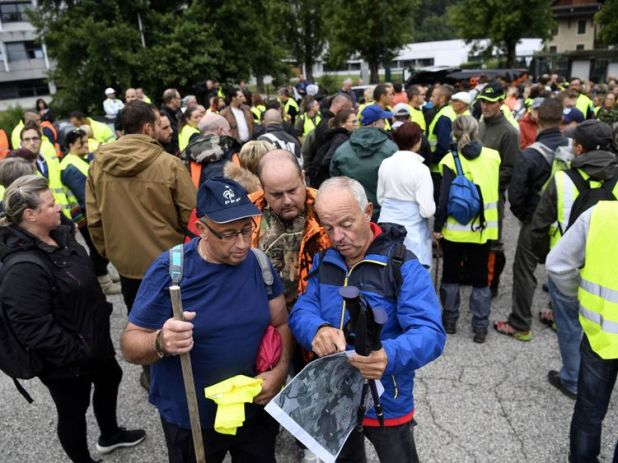 Hundreds of volunteers turned out on Saturday to search for the nine-year-old