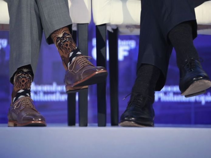 Canadian PM wears Star Wars themed socks at Bloomberg Global Business Forum Why Trudeau is wearing Darth Vader Why Trudeau is wearing Darth Vader d224eb2634f5ec0de2aa634500e68554d10e41e3904b4c9f361fdf726ba4ed48 4108116