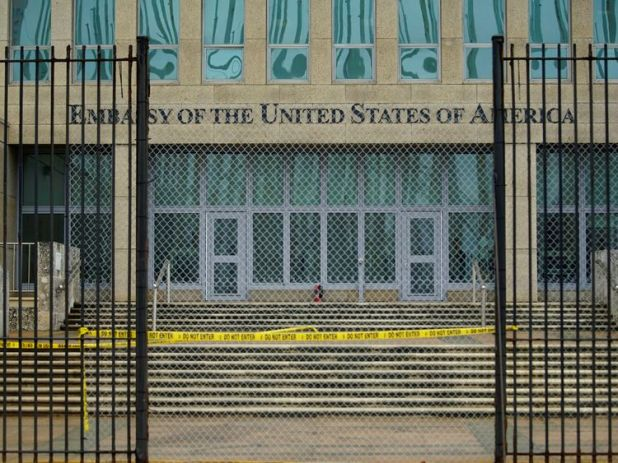 Only 'emergency personnel' are allowed to remain at the US embassy in Havana