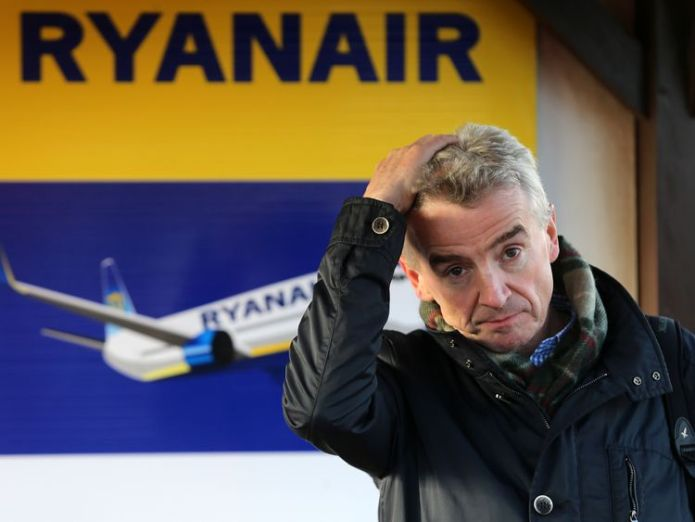 Michael O'Leary has 'sincerely apologised' to customers affected by cancellations Ryanair annual profits soar 10% despite pilot rota blunder Ryanair annual profits soar 10% despite pilot rota blunder skynews ryanair michael oleary 4112592