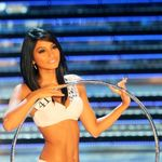 19-year-old Italian Ambra Battilana performing during the Miss Italia contest in Rome in 2010