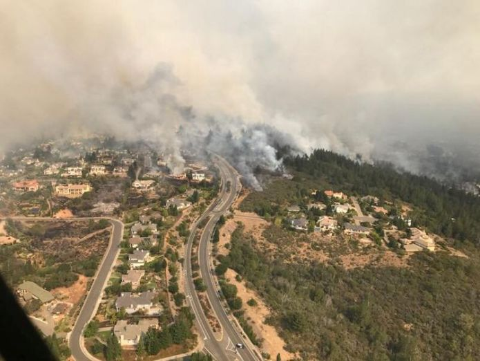 An aerial photo of the devastation left behind from the North Bay wildfires north of San Francisco, California Power lines caused California's devastating fires Power lines caused California's devastating fires skynews california wild fire 4124576