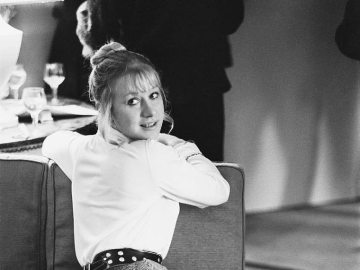 English actress Helen Mirren at a promotional reception for 'Age of Consent', a film she stars in with James Mason, 1969. (Photo by Len Trievnor/Daily Express/Hulton Archive/Getty Images)