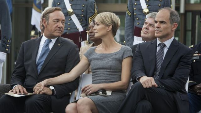 Kevin Spacey, Robin Wright, Michael Kelly