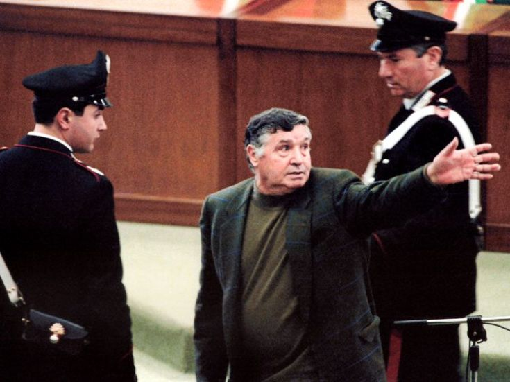 Salvatore 'Toto' Riina during his 1993 trial