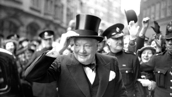 Winston Churchill arrives at Church House to receive the Honorary Freedom of the City of Westminster in 1946