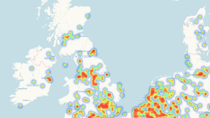 Stores that accept Bitcoin. Pic: CoinMap.org