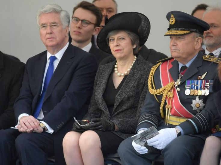 Prime Minister Theresa May and Chief of the Defence Staff Air Chief Marshal Sir Stuart Peach