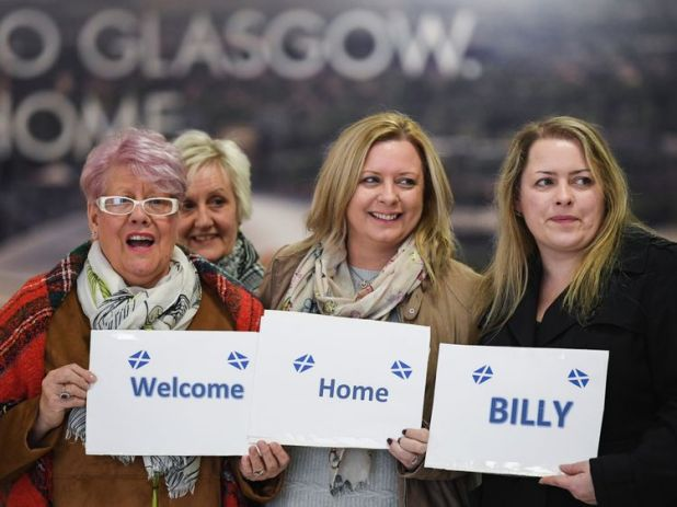 Family wait to welcome Mr Irving home