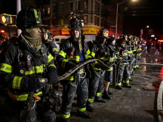 New York City Mayor Bill De Blasio thanked the New York Fire Department