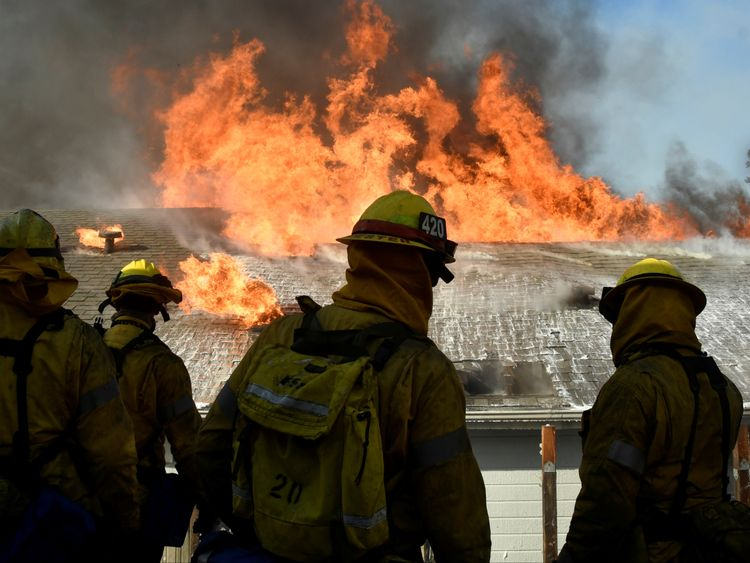 Firefighters have said they are unable to contain most of the fires