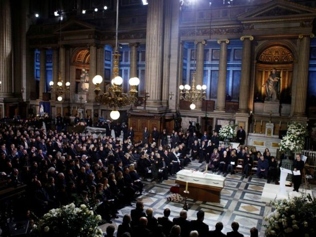Mourners packed into La Madeleine church to pay their respects to Johnny Hallyday
