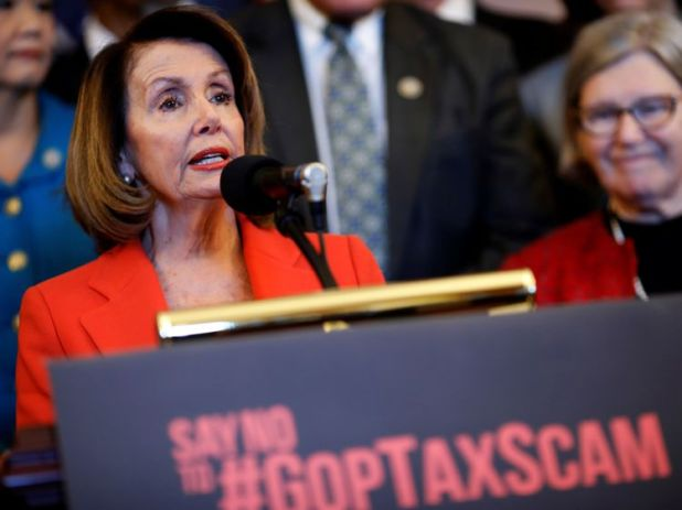House Minority Leader Nancy Pelosi attacked the tax reform bill