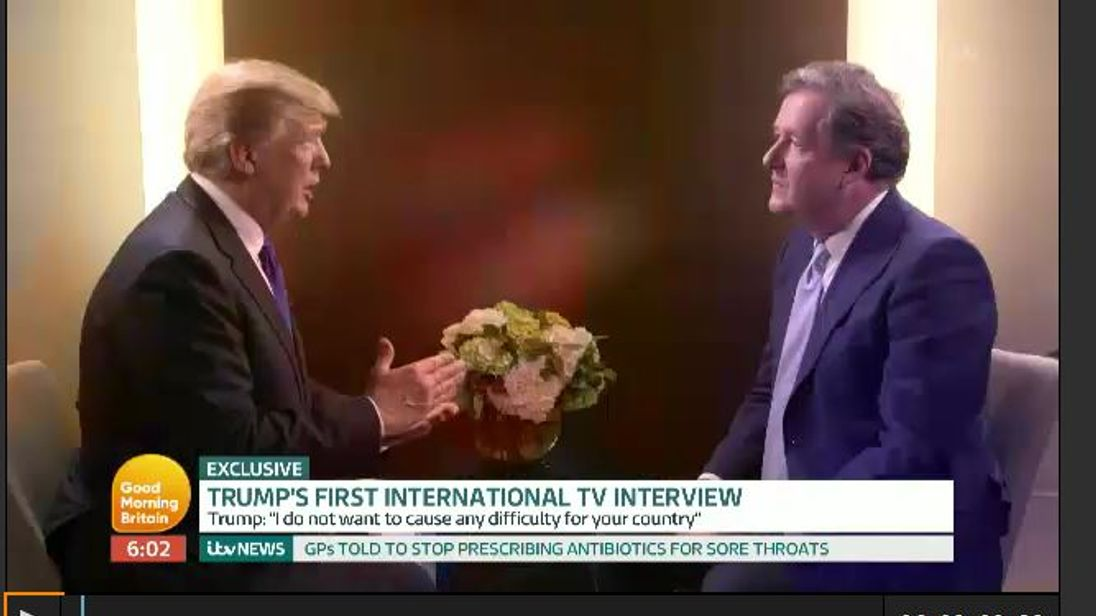 Donald trump interviewed by Piers Morgan