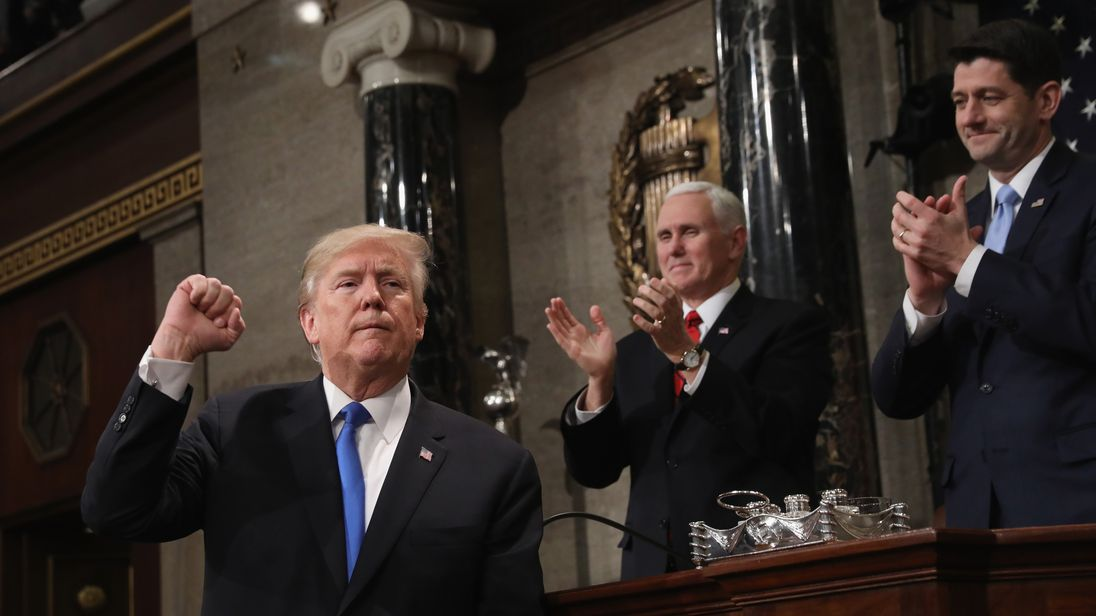 president Trump finishes his first State of the Union address