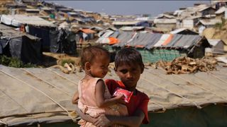 Hundreds of thousands, including children, fled conflict uk pledges £70m rohingya aid ahead of rainy season UK pledges £70m Rohingya aid ahead of rainy season skynews rohingya refugees 4215614