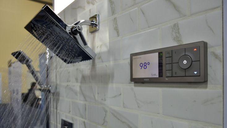 An Amazon Alexa enabled Moen digital shower