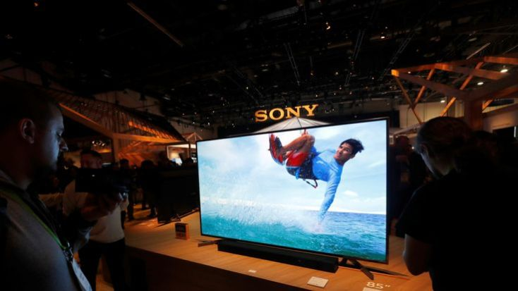 It wouldn't be a tech show with out the latest tellys: this one's an 85-inch effort from Sony