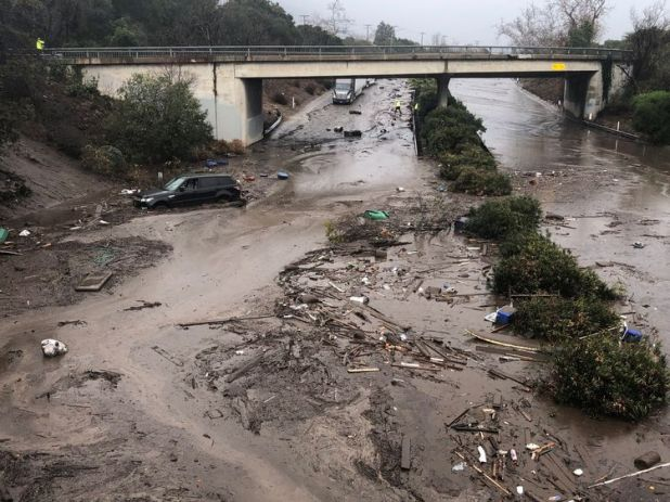 Many roads have become impassable because of the mudslide