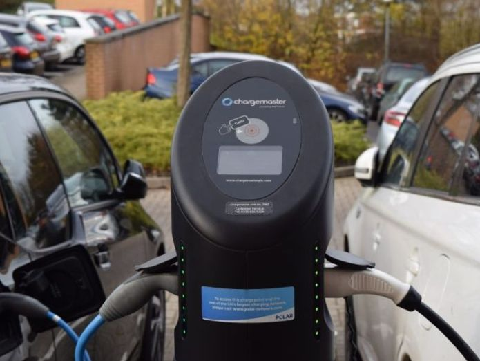 Chargemaster runs the POLAR network of electric vehicle charging points in the UK. Pic: Chargemaster  BP to buy electric future through £130m Chargemaster takeover skynews chargemaster electric 4196703