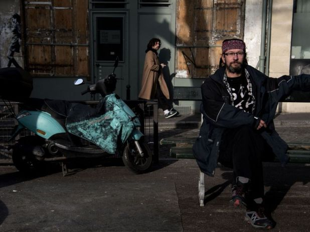 French homeless man Christian Page