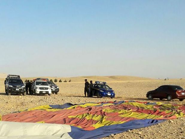 Strong winds are believed to have forced the balloon off course
