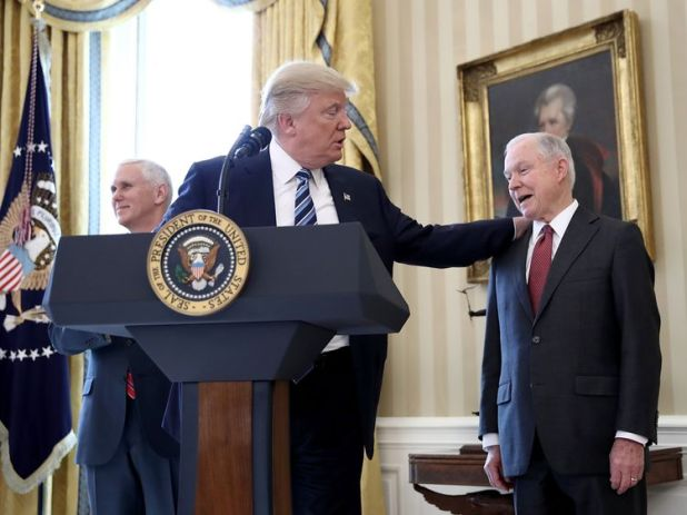 Jeff Sessions was sworn in as Attorney General by Donald Trump in February 2017