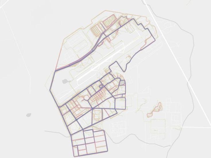 Kandahar Airfield in Afghanistan. Pic. Strava heatmap