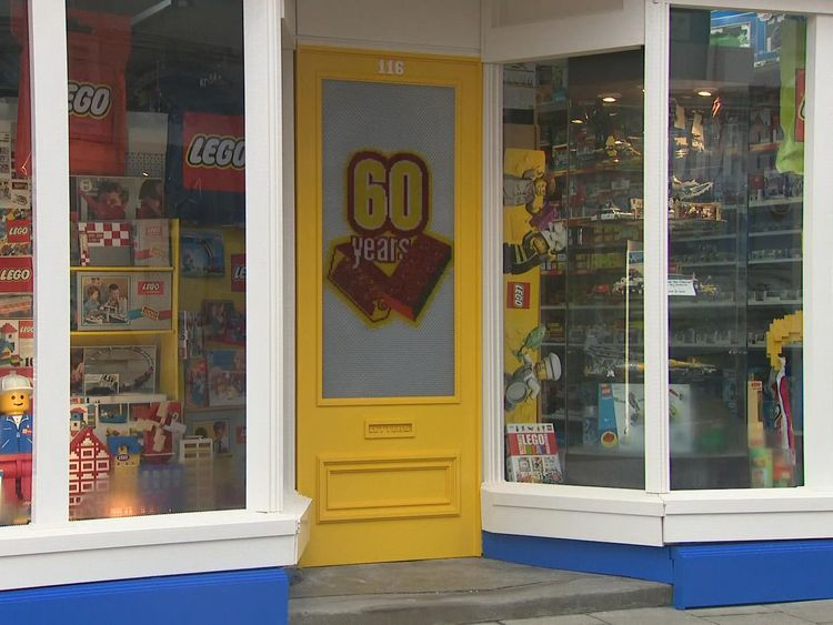 The shop has had a makeover for the 60th anniversary of Lego