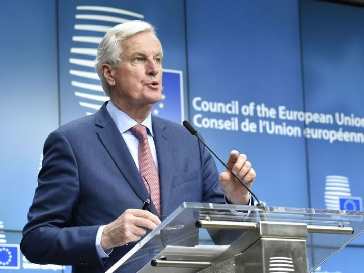 European Union Chief Negotiator in charge of Brexit negotiations, Michel Barnier gives a press after a General affairs council debate on the article 50 concerning Brexit in Brussels, at the EU headquarters in Brussels on January 29, 2018.