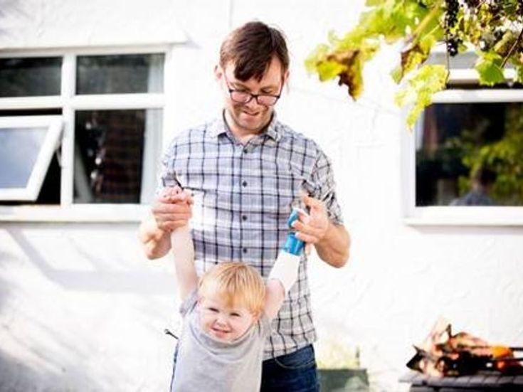 Ben Ryan and his son