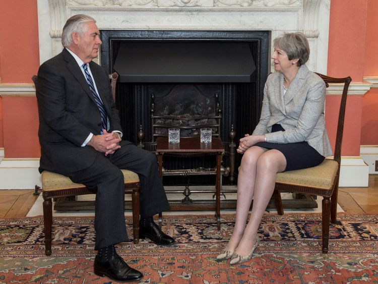 Rex Tillerson and Theresa May