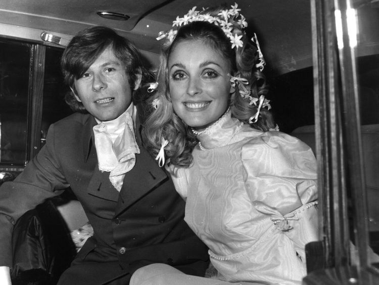 Sharon Tate with film director Roman Polanski