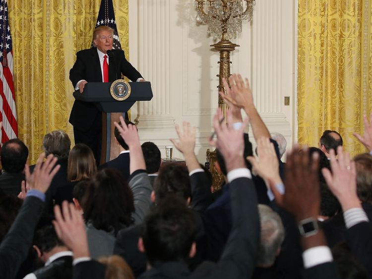 Trump's turbulent first year has been 'good for business' for reporters