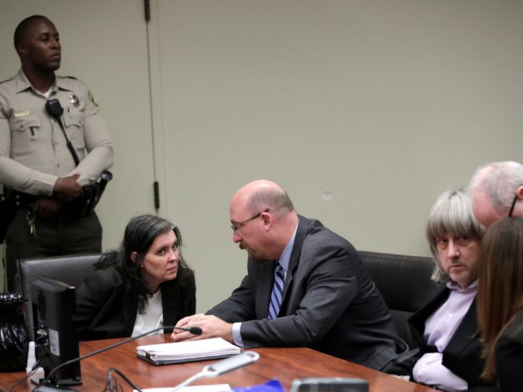 David Turpin and Louise Turpin appear in court for their arraignment in Riversid