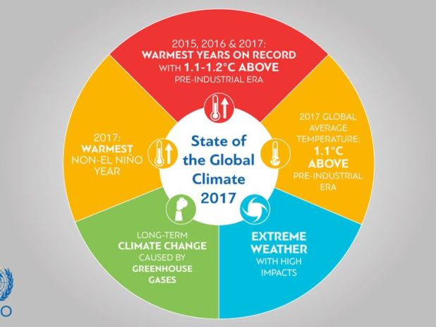 State of the global climate. Pic: WMO